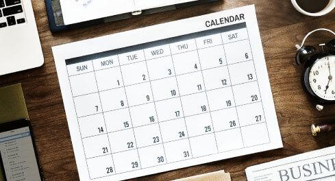 Key Tax Dates Calendar